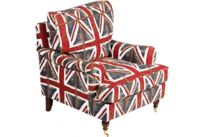 """Mobilier design vintage, fauteuil """"Union Jack"""" par Esprit Loft"""