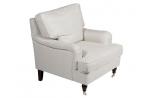 """Fauteuil pour mobilier contemporain """"Glasgow"""" coloris tissu blanc, Esprit Loft"""